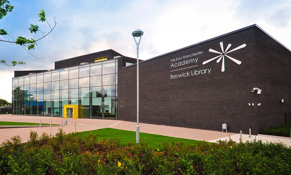 The East Manchester Academy building